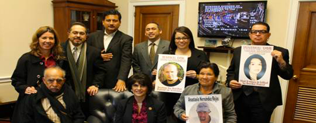REP. LUCILLE ROYBAL-ALLARD MEETS WITH FAMILIES OF VICTIMS OF BORDER PATROL BRUTALITY